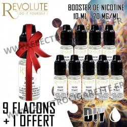 Le 20 - Pack de 10 flacons dont 1 offert - Booster de Nicotine - Revolute