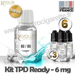 Kit TPD Ready DiY 6 mg - 50% PG / 50% VG - Revolute
