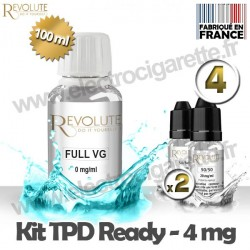 Kit TPD Ready DiY 4 mg - Full VG - Revolute
