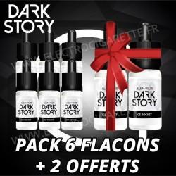 Pac de 6 flacons + 2 offerts - Dark Story - Alfaliquid - 10 ml