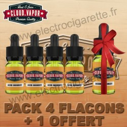 Pack 4 flacons + 1 offert - Cloud Vapor Vintage - 10 ml