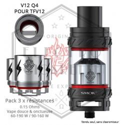 Pack de 3 x Résistances V12 Q4 TFV12 - 0.15 ohm - Smoktech