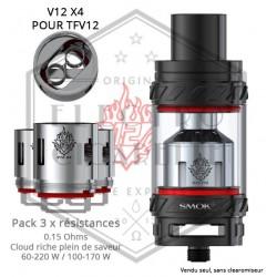 Pack de 3 x Résistances V12 X4 TFV12 - 0.15 ohm - Smoktech