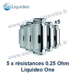 Pack 5 résistances - Liquideo One Black Fusion