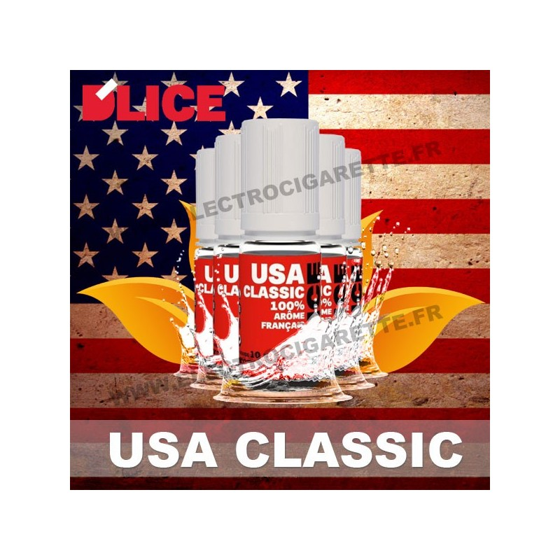 Pack 5 flacons 10 ml USA Classic - D'Lice - Pack de 5
