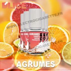 Pack 5 flacons 10 ml Agrume - D'Lice
