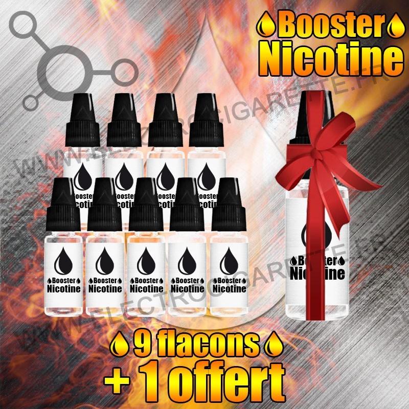 Booster Nicotine - 9 flacons + 1 offert - Aroma Sense