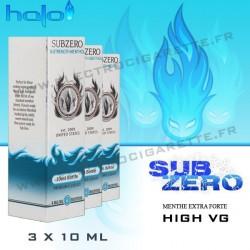 Halo SubZero High VG - 3x10ml