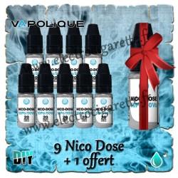Nico Dose - 9 flacons + 1 offert - Vapolique
