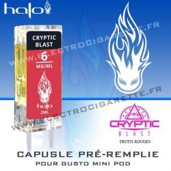 Cryptic Blast - Capsule Pré-Remplie Gusto Mini Pod - Halo
