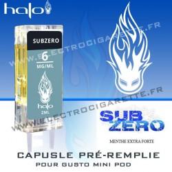 Subzero - Capsule Pré-Remplie Gusto Mini Pod - Halo