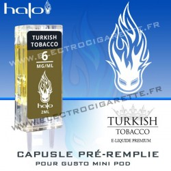 Turkish Tobacco - Capsule Pré-Remplie Gusto Mini Pod - Halo