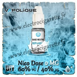 Base Neutre ZHC 0 MG - 60% PG / 40% VG - Vapolique