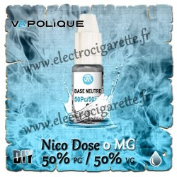Base Neutre ZHC 0 MG - 50% PG / 50% VG - Vapolique