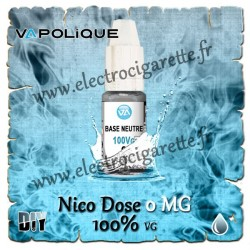 Base Neutre ZHC 0 MG - 100% VG - Vapolique