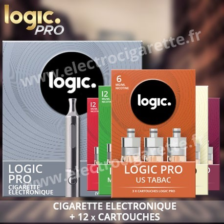 Cigarette electronique Logic Pro avec 4 packs de 3 x Cartouches