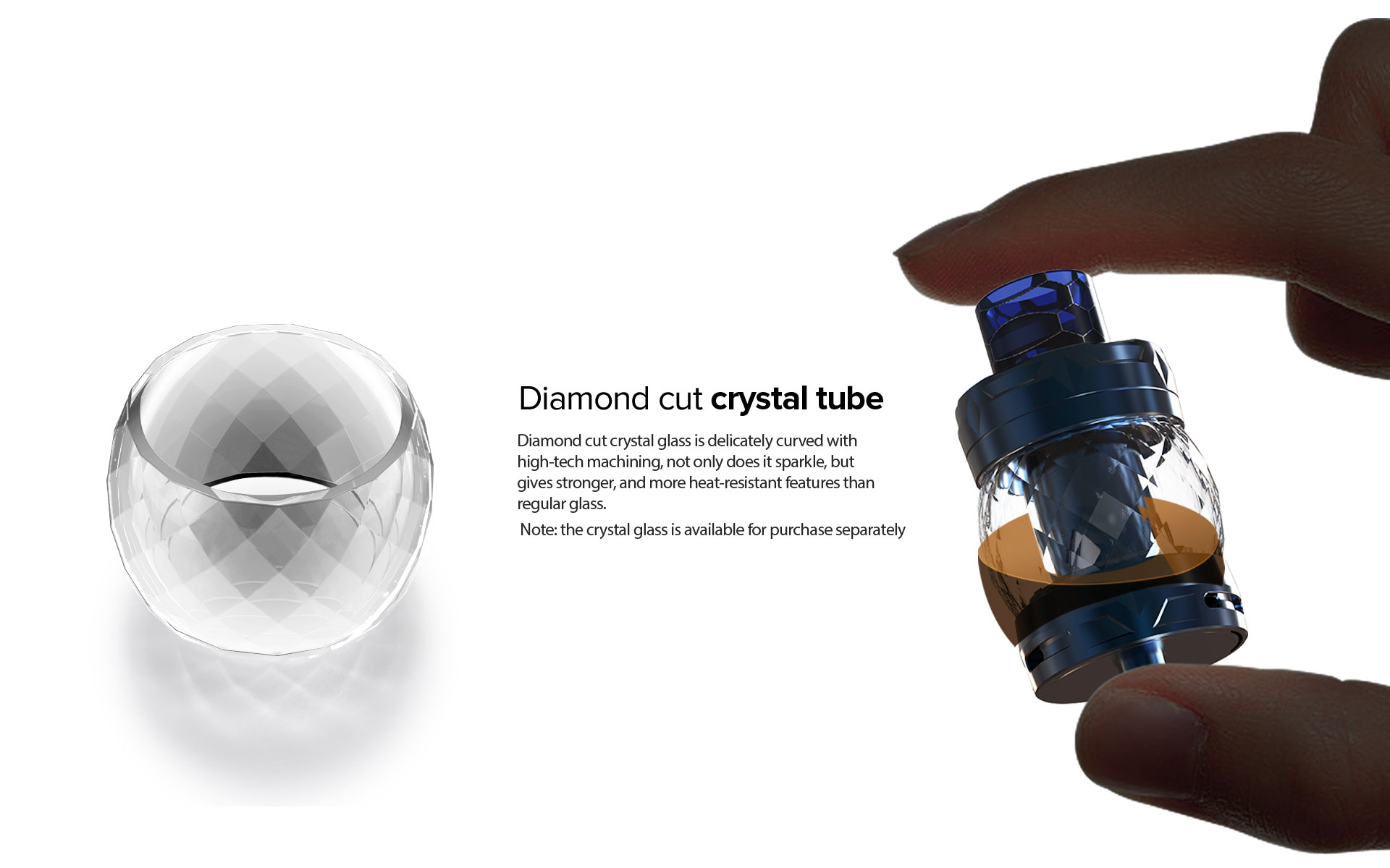Clearomiseur Odan Diamond - 5ml - Aspire - Verre Crystal