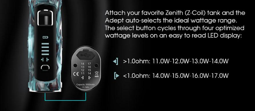 Kit Adept Zenith - 3000mah - 4ml - Innokin - Rechargement