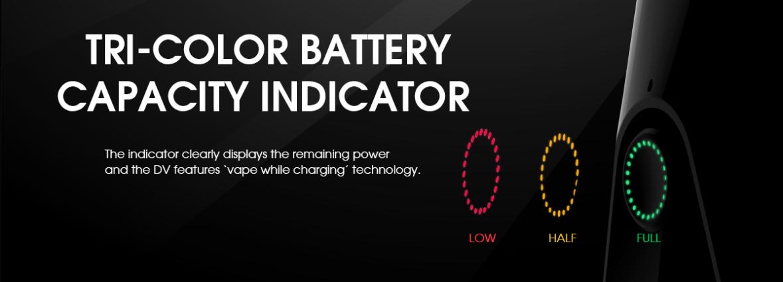 Kit DV Pod - Couleur de batterie par rapport à l'autonomie