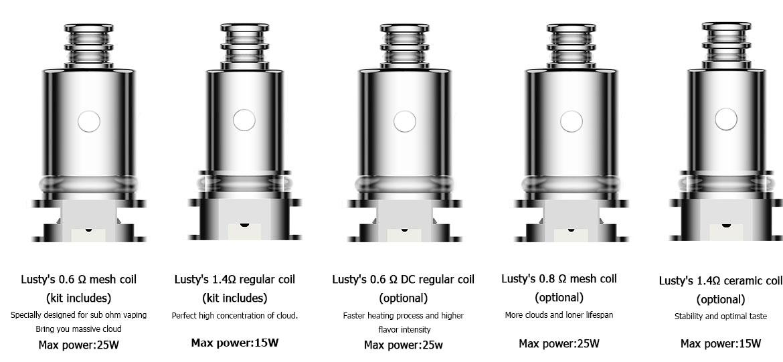 Kit Lusty Pod - 3.3ml - 1000mAh - Nevoks - Grand choix de résistances