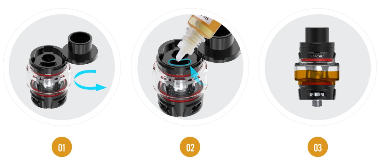 TFV-Mini v2 5 ml - Remplissage