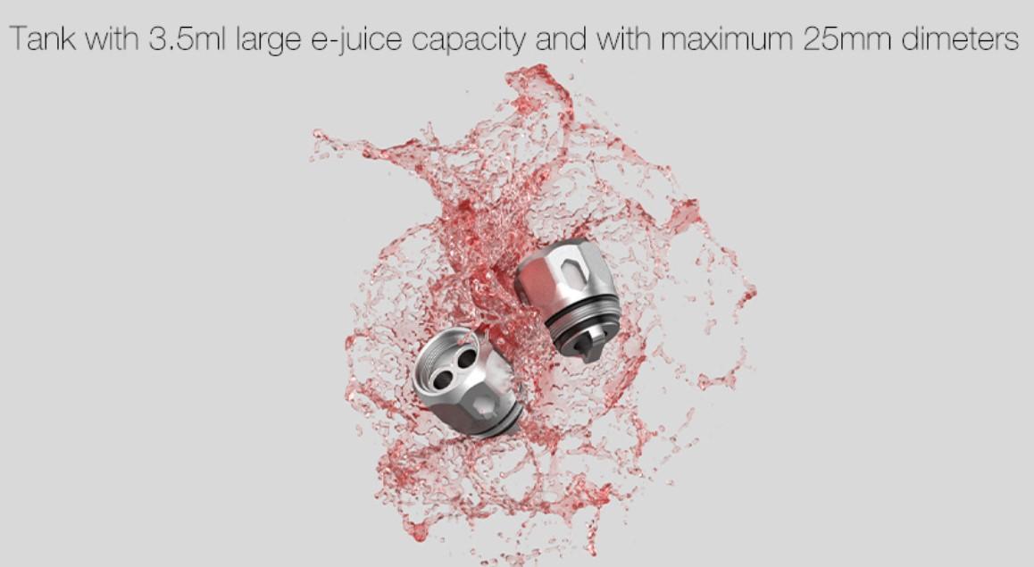 Kit Swag 2 80W TC avec NRG PE 3.5ml - Vaporesso - Capacité du clearomiseur NRG PE de 3.5ml