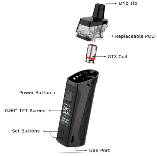 Kit Target PM80 2000mAh 4ml - Vaporesso - Informations