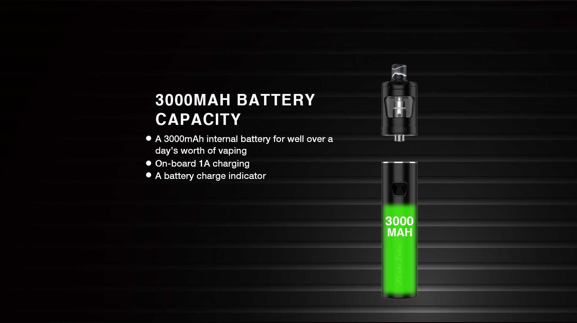 Kit Zlide Tube 3000mah avec clearomiseur Zlide 4ml - Innokin - Autonomie de 3000 mAh