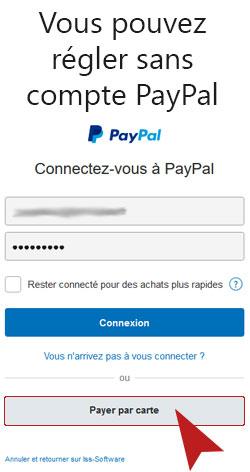 Payer sans compte avec Paypal