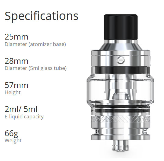 Clearomiseur Pesso 2ml ChidProof version - Eleaf - Taille