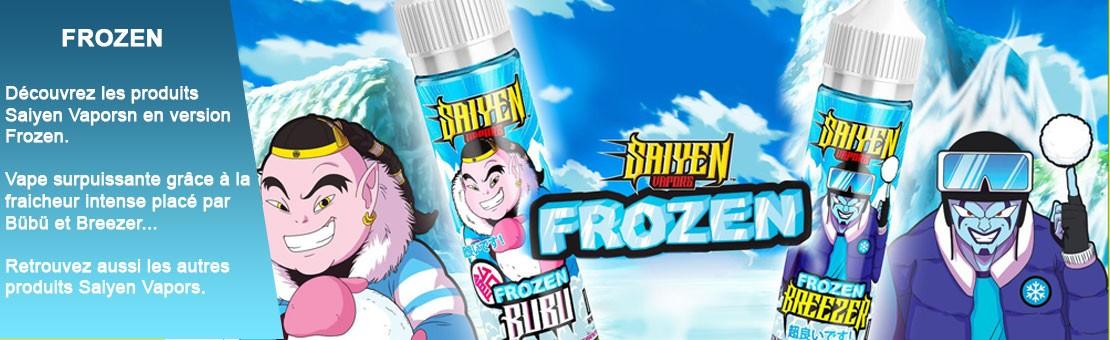 Découvrez les produits Saiyen Vapors en version Frozen