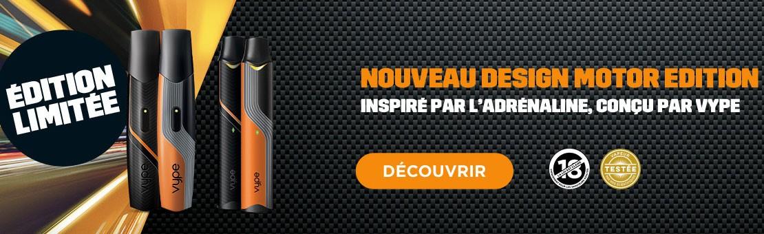 Nouveau design Motor Edition pour la ePen 3 et ePod de Vype