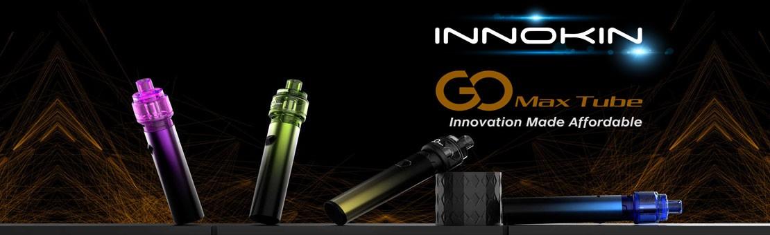 Le kit Gomax Tube d'Innokin se compose de l'atomiseur jetable Gomax et du mod Gomax Tube.